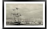 TS Royalist in Brixham, Framed Mounted Print