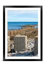 wave breakers by the ocean, Framed Mounted Print