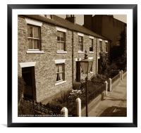 Old Fashioned Street, Framed Mounted Print