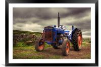 Fordson Super Dexta Tractor, Framed Mounted Print