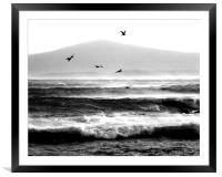 Winter Seas, Framed Mounted Print