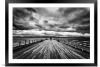Beaumaris Pier on Anglesey, Framed Mounted Print