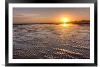 Rippled Sunset, Framed Mounted Print