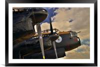 Canadian Avro Lancaster Bomber VeRA, Framed Mounted Print