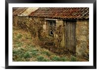 Derelict farm buildings - Northumberland, Framed Mounted Print