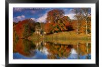 Autumn on the River Tyne at Hexham, Framed Mounted Print