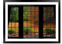 Autumn through the Window, Framed Mounted Print
