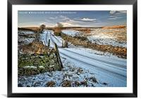 Winter Snow in Weardale, Framed Mounted Print