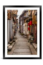 Lijiang Sidestreet China, Framed Mounted Print