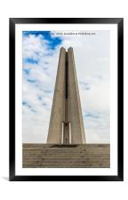 Monument to the People's Heroes - Shanghai, Framed Mounted Print