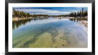 Yellowstone River, Framed Mounted Print