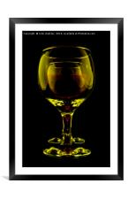 Two Wine Glasses, Framed Mounted Print