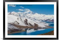 Yamdrok Lake - Tibet, Framed Mounted Print