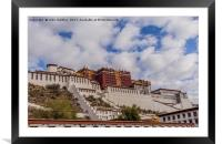 The Potala Palace in Tibet, Framed Mounted Print