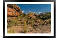 Pinnacle Rock Area Landscape - South Africa, Framed Mounted Print