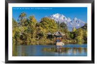 Black Dragon Lake, Lijiang, China, Framed Mounted Print