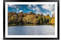 Late November afternoon at Stourhead Gardens, Framed Mounted Print
