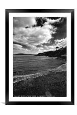 The Beach at Cwm yr Eglwys, Framed Mounted Print