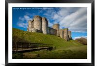 Kidwelly Castle South Wales, Framed Mounted Print