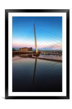 Swansea Millennium bridge , Framed Mounted Print