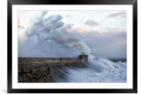 Hurricane Ophelia hits Porthcawl, Framed Mounted Print