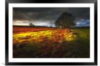 Approaching storm over Brecon, South Wales UK, Framed Mounted Print