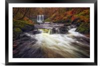 Sgwd yr Eira waterfalls, Framed Mounted Print