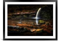 Sgwd Gwladus waterfall at Pontneddfechan, Framed Mounted Print