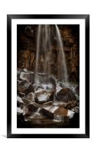 Winter at Melincourt waterfall, Framed Mounted Print