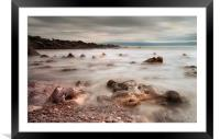 Rotherslade Bay rocks, Framed Mounted Print