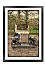 Asquith – replica Vintage Car., Framed Mounted Print