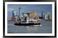 Mersey Ferry Royal Iris on the River Mersey, Framed Mounted Print