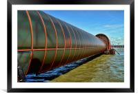 The Woodside ferry terminal access tube,, Framed Mounted Print