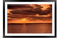 Atlantic Ocean sunrise., Framed Mounted Print