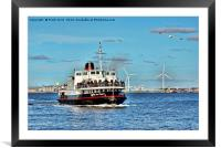 Mersey Ferryboat, Royal Daffodil on the Mersey., Framed Mounted Print