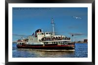 Mersey Ferry Royal Daffodil, Framed Mounted Print