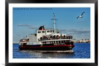 Royal Daffodil arriving at Seacombe Ferry, Framed Mounted Print
