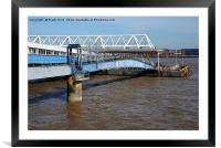 Seacombe Ferry, covered access, Framed Mounted Print