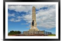 The War memorial on Grange Hill, Wirral, Framed Mounted Print