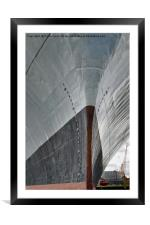 The bows of RFA Fort Austin, Framed Mounted Print