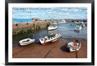 Serene, sunny Paignton harbour, Framed Mounted Print