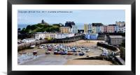 Tenby Harbour, Tenby, Wales, UK, Framed Mounted Print