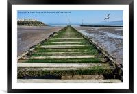 Rhos-on-Sea - fishing boat jetty, Framed Mounted Print