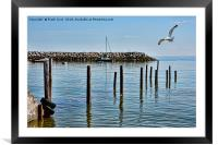 The submerged jetty at Rhos-on-Sea. North Wales., Framed Mounted Print