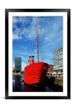 Mersey Bar lightship, Planet, Framed Mounted Print