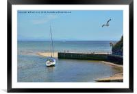 Abersoch harbour, North Wales, Framed Mounted Print