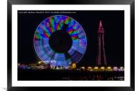 Central Pier Blackpool, Framed Mounted Print