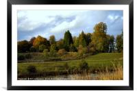 Autumn at the Clyde Valley , Framed Mounted Print