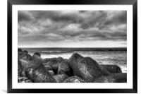 Sky Sea Stones, Framed Mounted Print