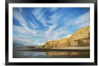 Untouched Cliffs, Framed Mounted Print